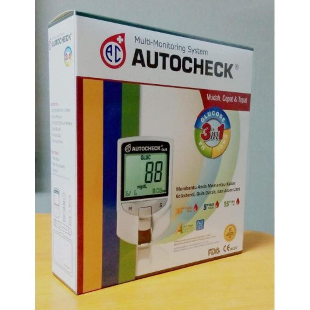 Autocheck 3 In 1 Cek Gluco Kolestrol Asam Urat Shopee Indonesia Stik Gula