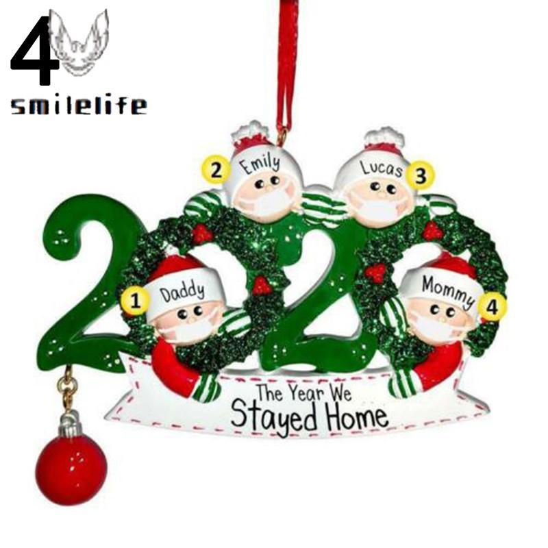 À® À® 2020 Personalized Quarantine Christmas Santa Claus Mask Hanging Ornaments Charming Family Xmas Decoration Shopee Indonesia