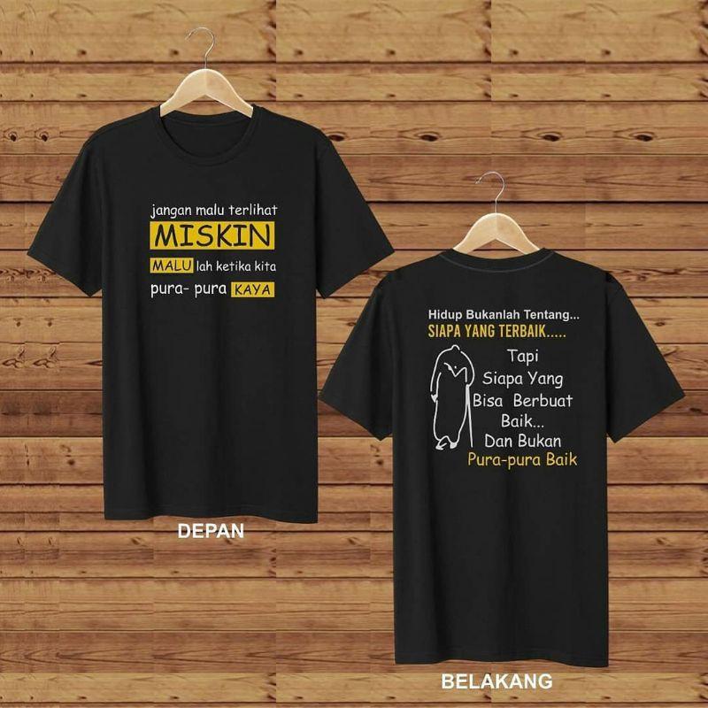 Kaos Distro Kata Bijak Kata Bijak Nasehat Pepatah Kaos Tshirt Pakaian Fashion Shopee Indonesia
