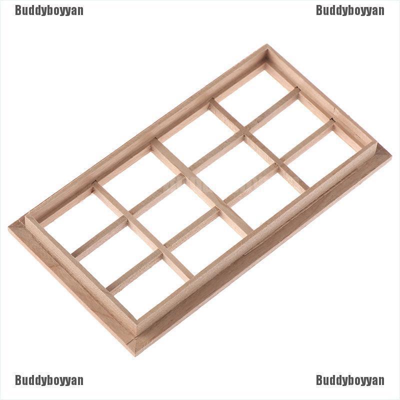Dollhouse Furniture Wooden 12 Pane Window 1:12 Miniature DIY Accessories