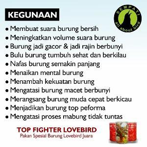 KONSLET & FIGHTER PAKAN SPECIAL LOVEBIRD LOMBA F1 SERIES NGEKEK 200gr | Shopee Indonesia