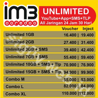PAKET DATA INDOSAT UNLIMITED 15GB & JUMBO 24JAM 30HARI