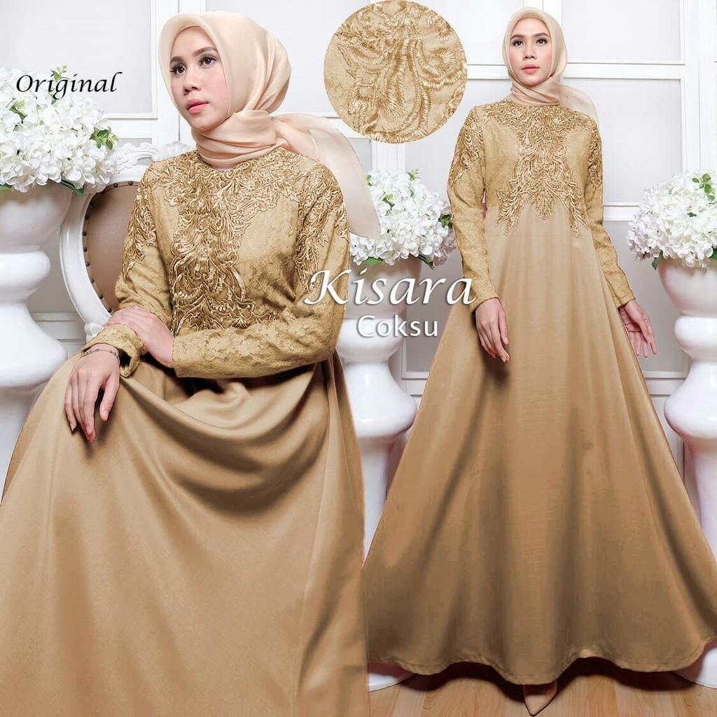46 Model Baju Brokat Warna Gold Paling Bagus