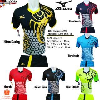 [ MIZUNO 03 ] Baju Olahraga Jersey Bola Setelan Futsal / Volly Badminton Mizuno