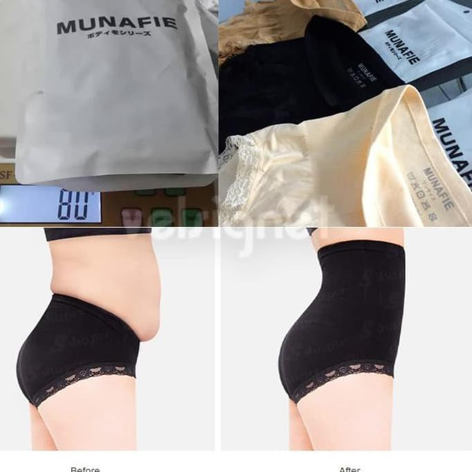 Munafie 80 Gram / Munafie Korset Tebal 80Gr Slimming Pants Original - Hitam