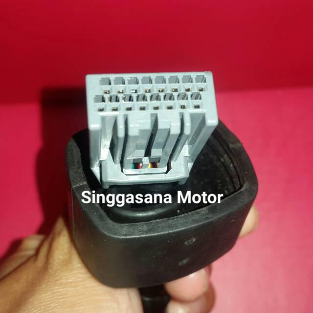 Kabel Soket Sdometer 16 pin FI Honda Old Vario Supra X Karisma 125 on
