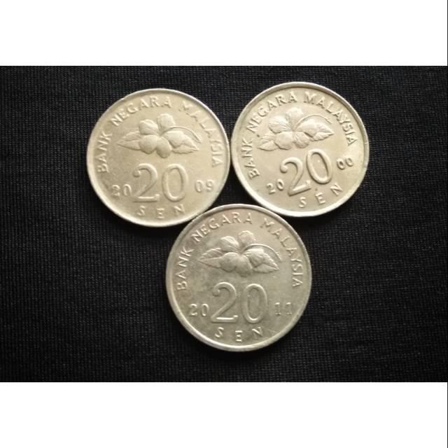 Koin asing Malaysia 20 sen