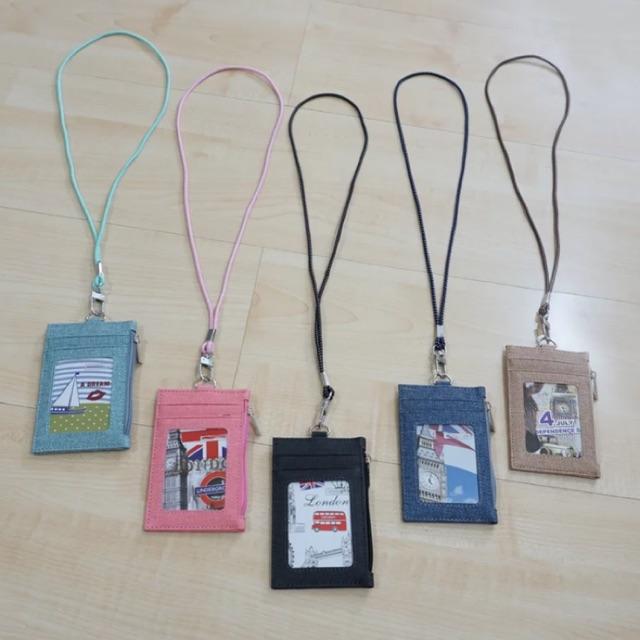 kalung id card  name tag lanyard card holder korean