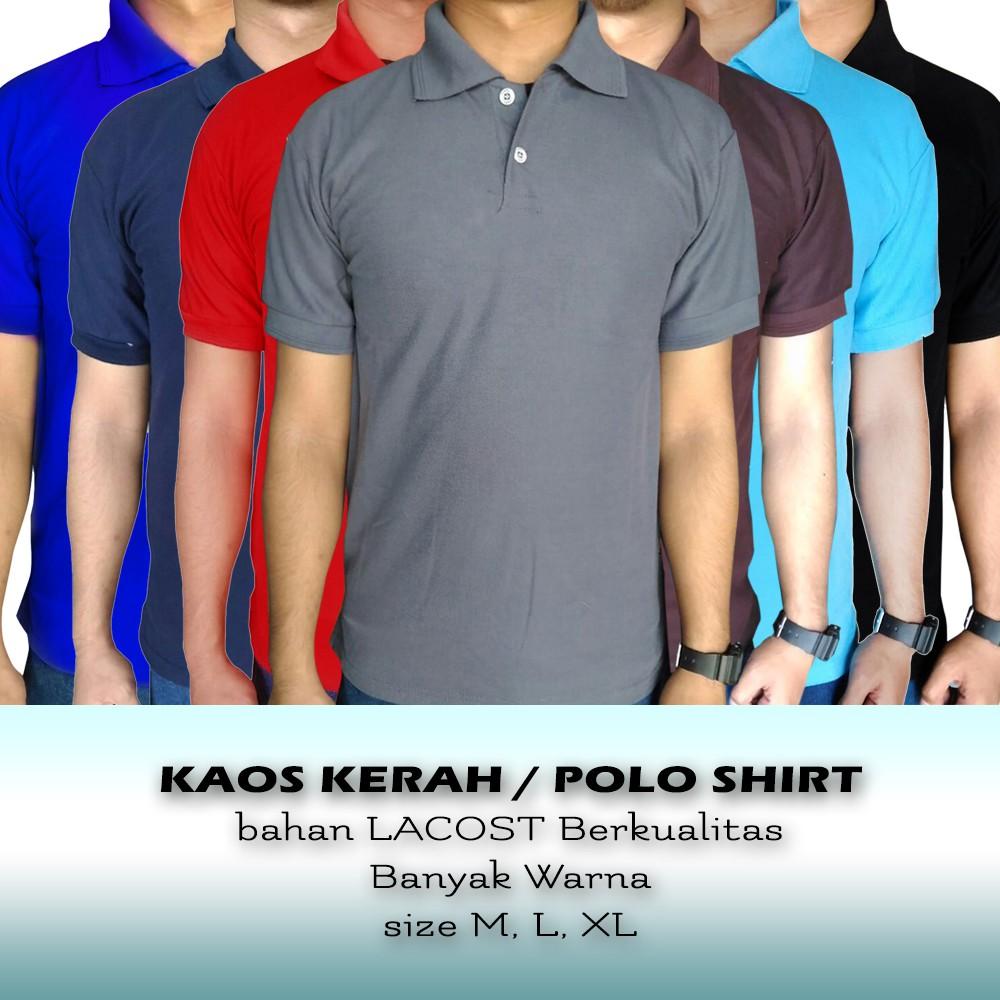 Kaos Polo Murah Berkualitas Shirt Baju Berkerah Cowok Pria Wanita Bahan Cotton Cewek Shopee Indonesia