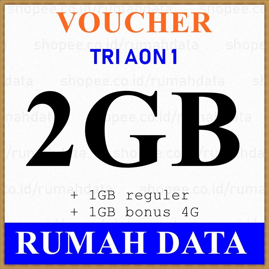 Voucher Tri Aon 2gb 1gb 4g Shopee Indonesia Three