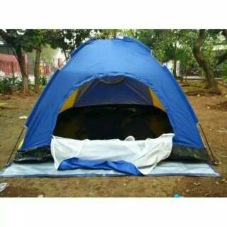 tenda Dome 4 Orang Single Layer camping Hiking Kemping Hunting Berburu piknik Travelling hyu hy