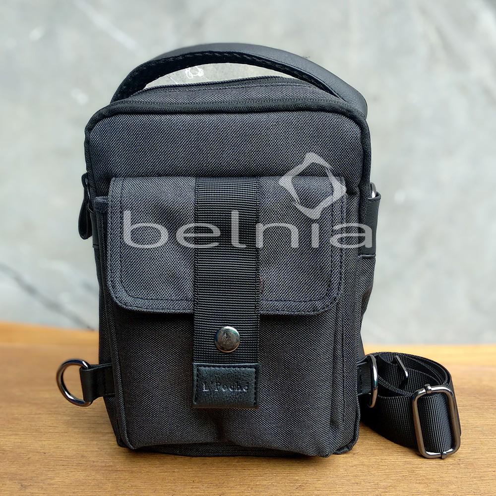 Tas Cross Body Sling Hand Bag Premium 3in1 Multi Fungsi Lpoche Hitam Jet Black Unisex Pria Wanita Biji Bubuk Kopi Betina Warung Tinggi Blended Coffee 250 Gram
