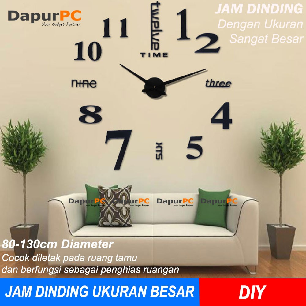 DB Jam Dinding Digital LED Besar Ukuran 33 x 17 cm + Thermometer Digital  3edb4479f0