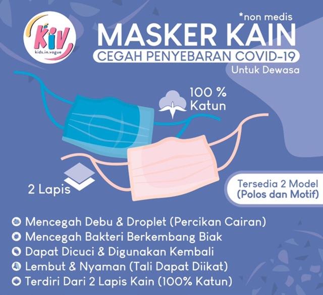 Kiv Masker Kain Grosir 2 Lapis Isi 10 Masker Full Katun Hijab Friendly Shopee Indonesia