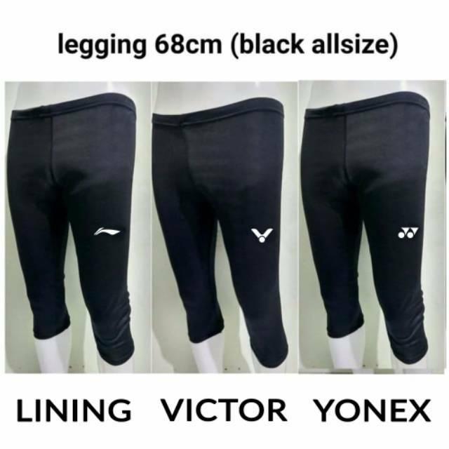 Legging 68cm Nike Adidas UA Lining Victor Yonex - Celana Baselayer 3 4  Celana Gym Panjang unisex  44c256b126
