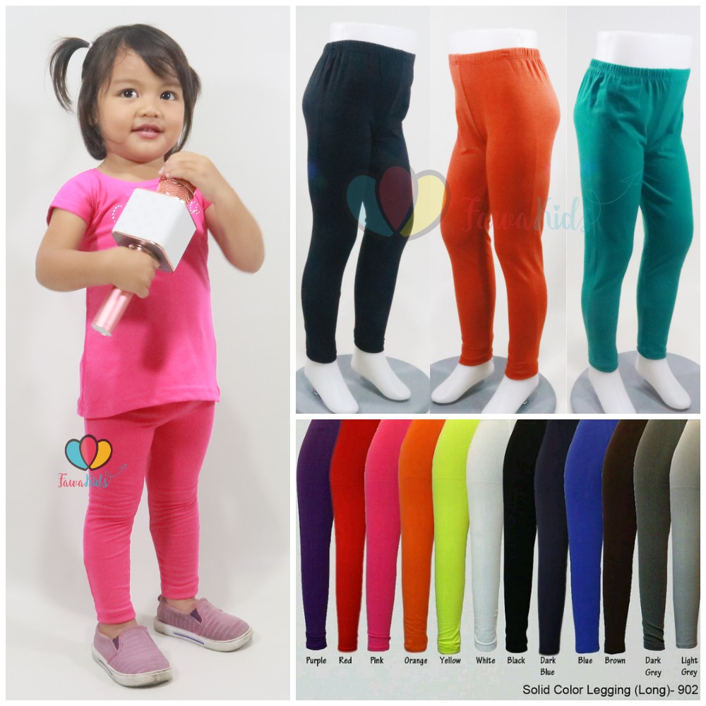 Legging Polos 1 2 Tahun Celana Anak Panjang Perempuan Leging Kaos Ketat Cewek Pants Murah Adem Shopee Indonesia