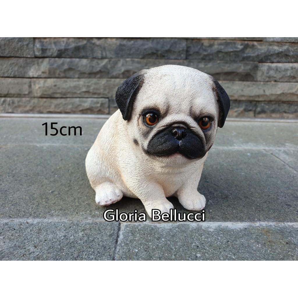 Patung Pajangan Anjing Pug Miniatur Doggy Dog Petshop Shopee Indonesia