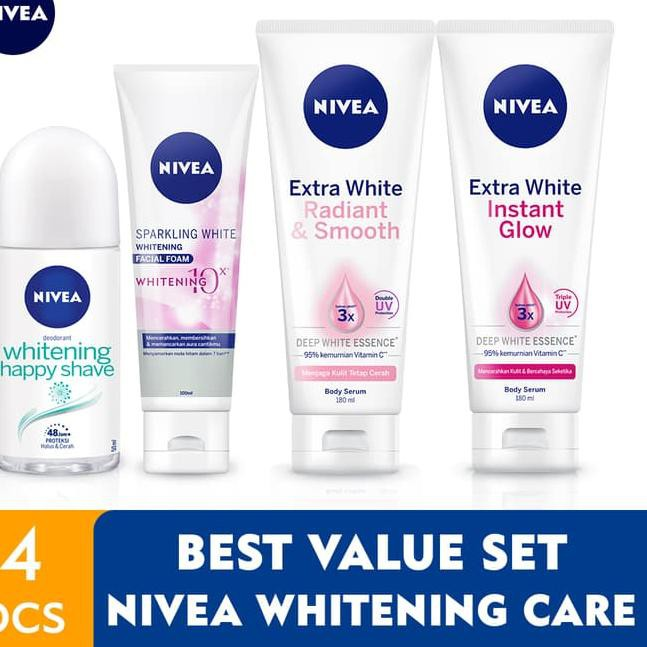 Nivea Whitening Face Care Best Value Set Shopee Indonesia