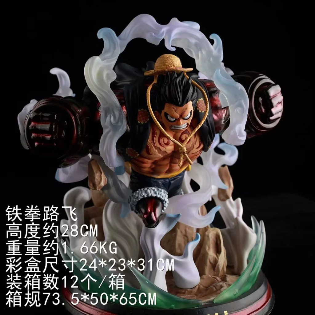 Action Figure E Piece Luffy Iron Luffie 4 Gear