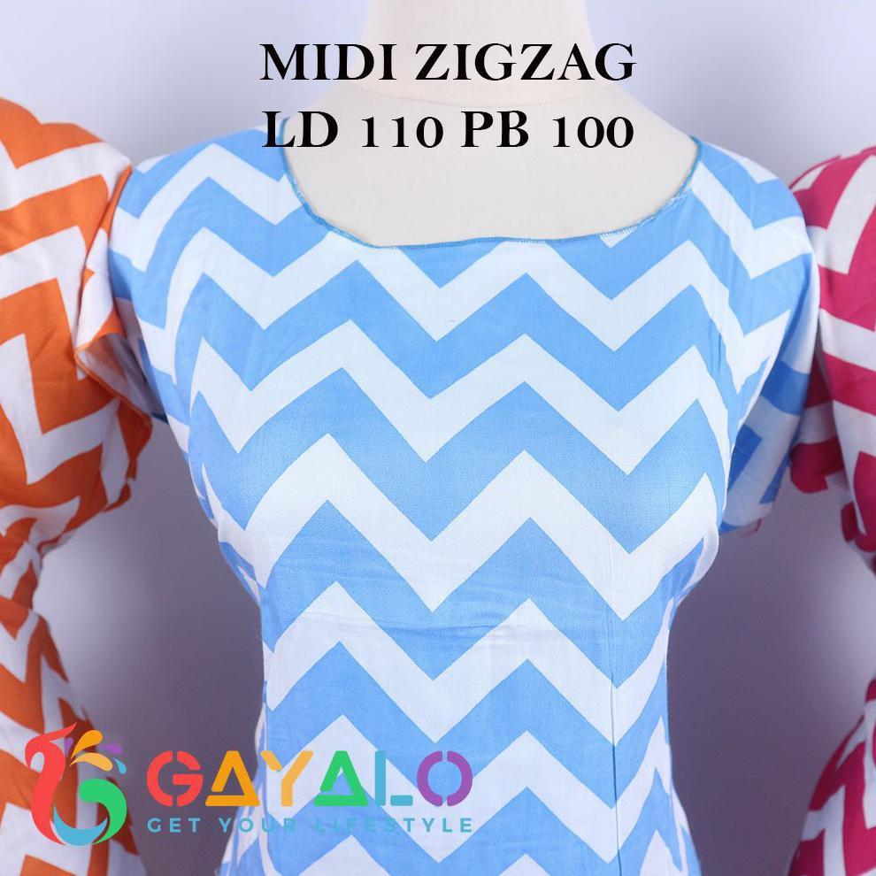 Daster Midi Zigzag Shopee Indonesia