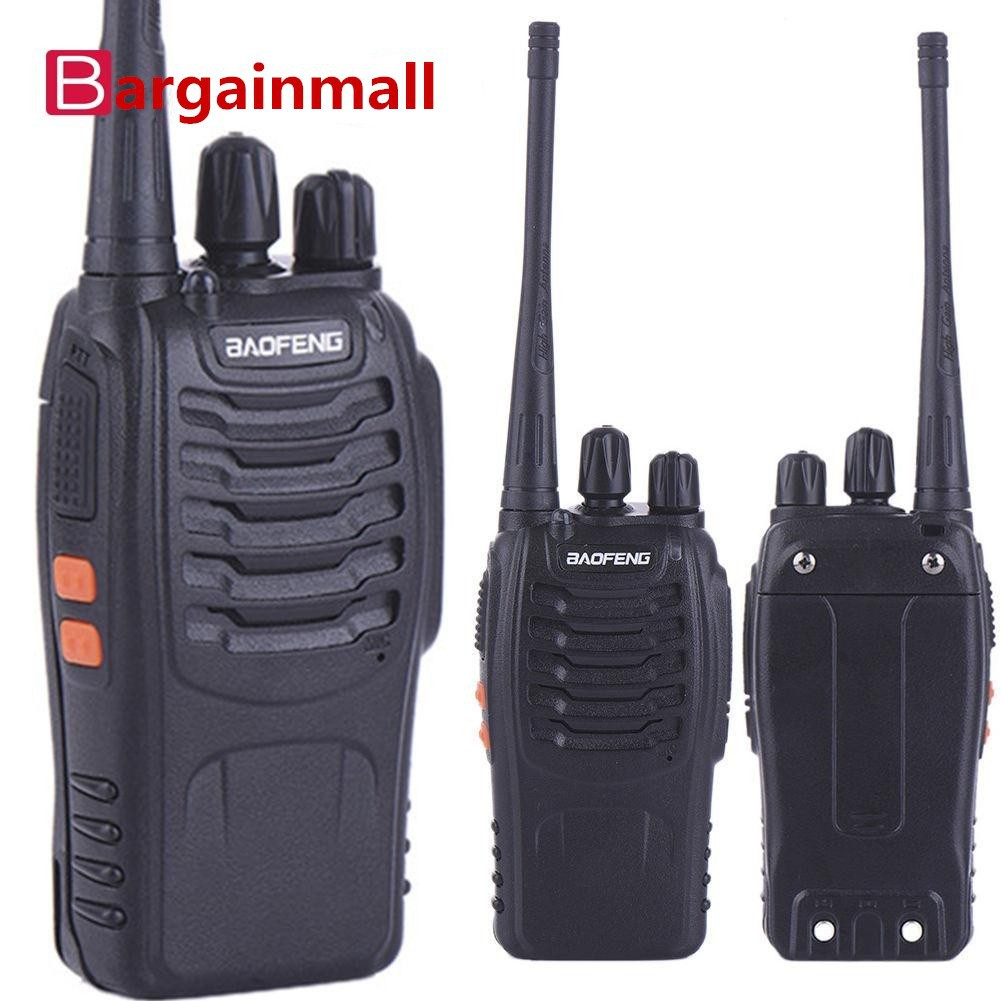 Baofeng Walkie Talkie Dua Arah Dual Band Fm Uv 5r Vhf Uhf Warna Ht Mini 3r Handy Talky Uv3r Bf Taffware Hitam Adaptor Eu Shopee Indonesia