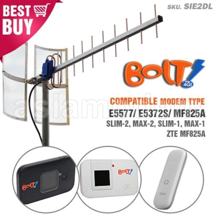 HEBOH Antena Indoor Portable MIMO X2 Bolt 4G Max 2 Huawei E5577 Black TERBARU | Shopee Indonesia