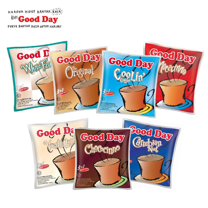 Good Day Coffe 3 In 1 10 Pcs Shopee Indonesia