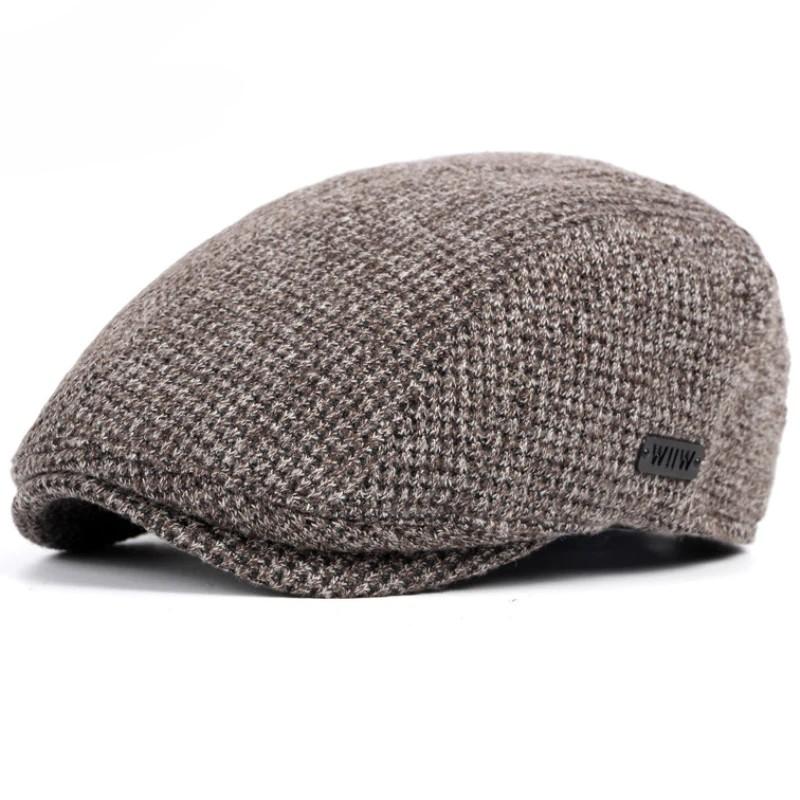 cff6890c7 Original Topi Baret HT1327 Black Beige Coffee Grey Cabbie Gastby Flat Ivy  Cap Warm Knitted Autumn