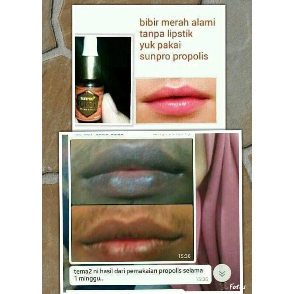 Pemerah Bibir Alami Permanen Sunpro Propolis Nasa Pemerah Bibir Shopee Indonesia
