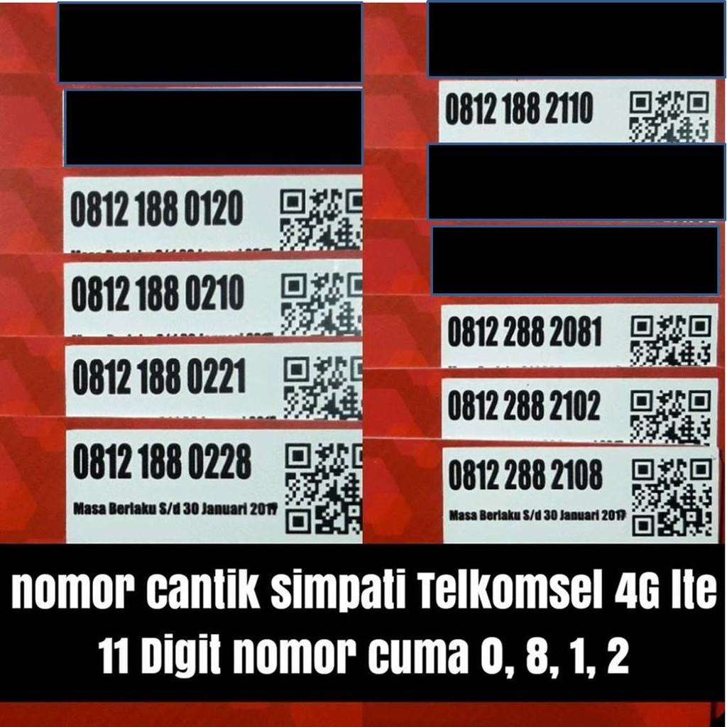 kartu perdana telkomsel 11 digit SIMPATI 4G nomer cantik rapih | Shopee Indonesia