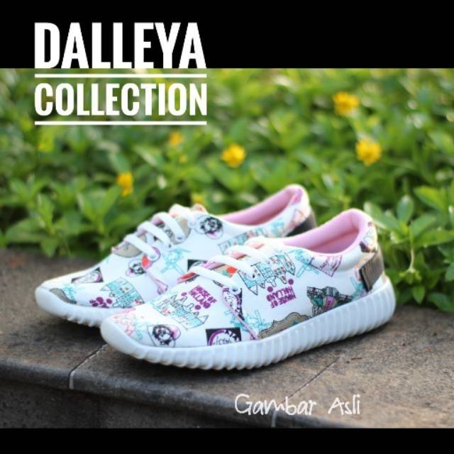 Lilyshoes HOLLAND - Dalleya sepatu sneakers wanita SUPER MURAH realpict korean  style zumba 0370911d7b