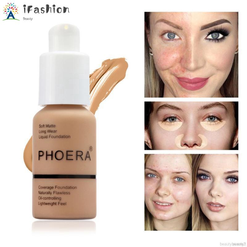 Phoera 30ml Liquid Foundation Concealer Face Makeup Matte Full Coverage Waterproof Long Lasting Foundation Shopee Indonesia