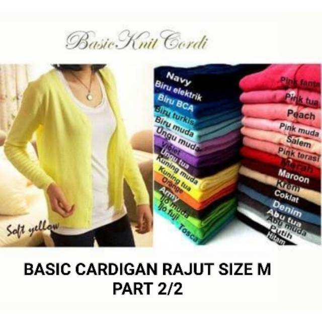 Sixtashop Atasan Cardigan Wanita Basic Style Cardy Mozi Good Quality | Shopee Indonesia