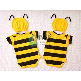 Baju Bayi Perempuan Laki-laki Jumper Bayi Lebah 0-6 Bulan ...