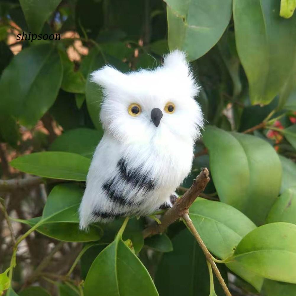 Sdj Lovely Ornamen Burung Hantu Buatan Dengan Bahan Plush Untuk Properti Foto Shopee Indonesia