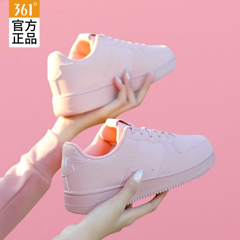 361 Sepatu Sneakers Casual Wanita Warna Putih Untuk Musim Panas