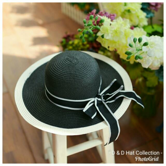 TP004 Emily Sun Hat Topi Pantai Topi Fashion  6379892a98