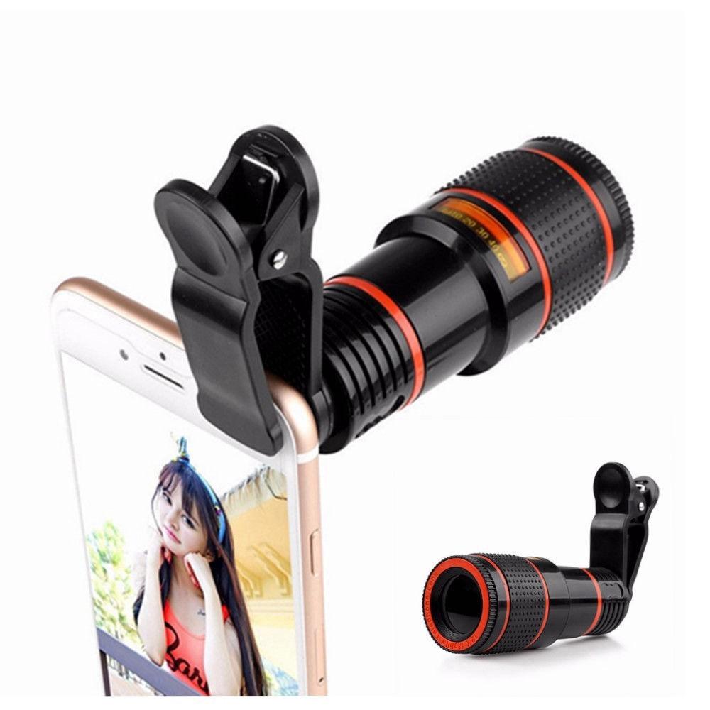 Premium Tele Lens 12x Lensa Telezoom Smartphone Clip Jepit Universal | Shopee Indonesia
