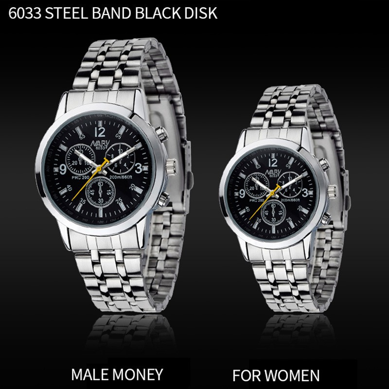 Nary 6033 Couple Watches For Lovers Steel Waterproof Gifts Couples Watch Shopee Indonesia
