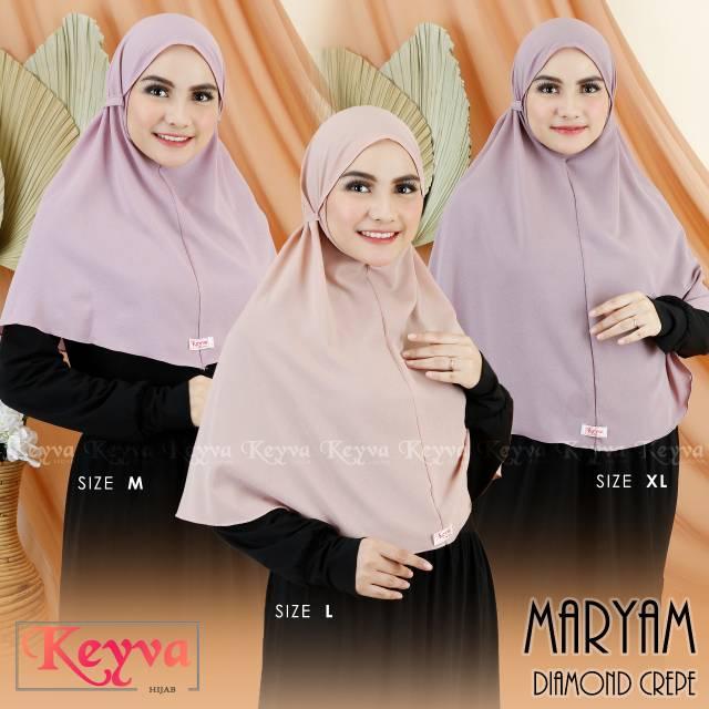 Bergo Maryam Size Xl Ori Keyva Hijab Shopee Indonesia