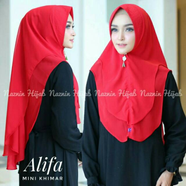 Hijab Dua Layer Mini Khimar Oval Alifa Ceruti Ultimate Double Layer High Quality