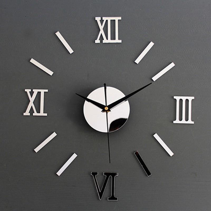 Stiker Jam Dinding Angka Romawi Tanpa Bingkai  d9f2b70638