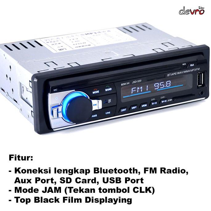 Tape Audio Mobil Multifungsi Bluetooth Usb Mp3 Fm Radio Jsd 520 Shopee Indonesia
