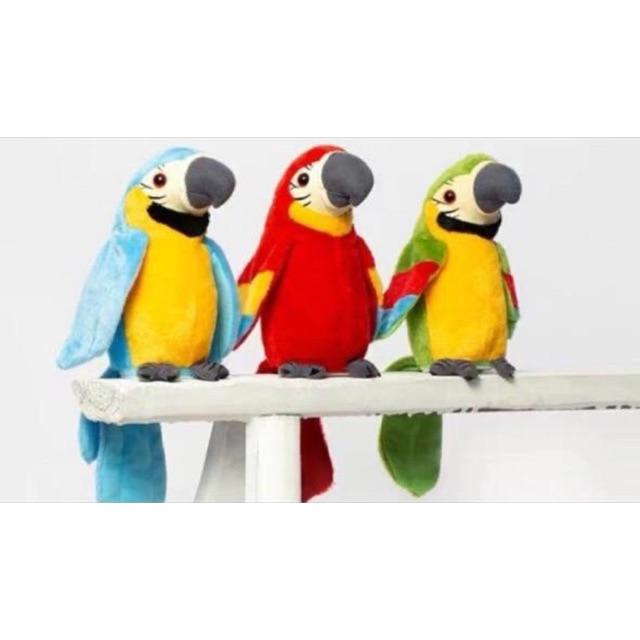 Bigbos Acc Boneka Burung Kakatua Bisa Ikut Bicara Talking Bird Peniru Suara Orang Shopee Indonesia