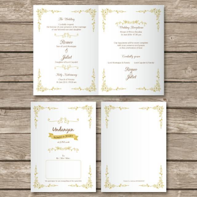 Undangan Pernikahan Kartu Wedding Invitation Murah Kode M01