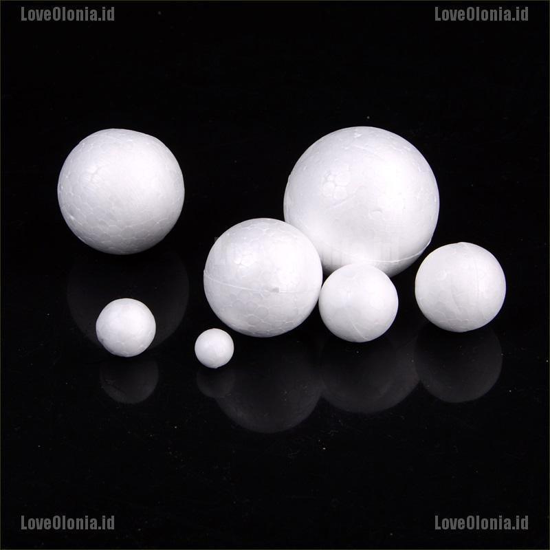 100pcs 10mm White Modelling Craft Polystyrene Foam Balls Styrofoam Kids DIY