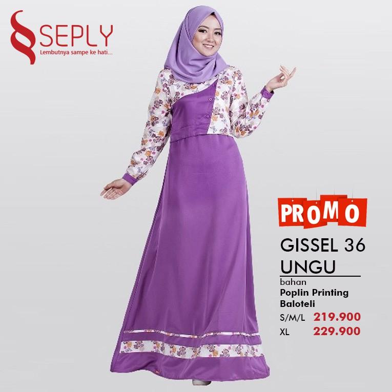 PROMO Gamis Wanita Dewasa by SEPLY GISSEL 36 | Shopee Indonesia