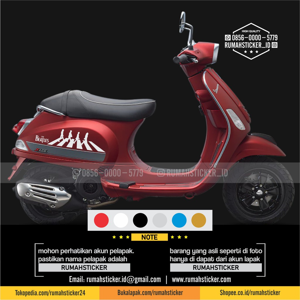 Sticker cutting vespa motor dan mobil abbey road ar shopee indonesia