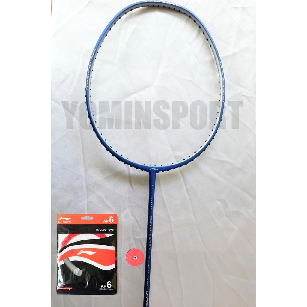 Raket Badminton Lining Super Series Ss99 Plus Ss 99 Blue Original Shopee Indonesia