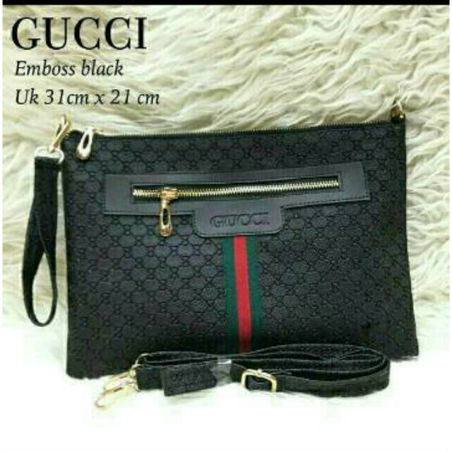 Sling Clutch Gucci EMBOSSED (REAL PICTURE)  28e7ed85d4